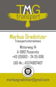 Visitenkarte TMG Gradnitzer